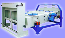 Rice processing cleaner